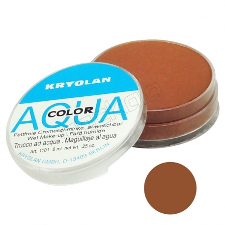 سایه چشم آکواکالر پودری سکه ای شماره رنگ 074 قهوه ای Aqua Color Kryolan Brown Eyeshadow 074
