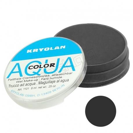 سایه چشم آکواکالر پودری سکه ای شماره رنگ 072 مشکی Aqua Color Kryolan Black Eyeshadow 072