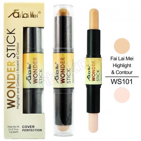 کانتور و هایلایت پوست فای لای می مدل واندر استیک شماره 101 Fai Lai Mei Wonder Stick Highlight & Contour