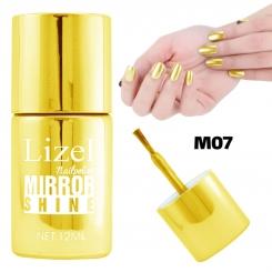لاک ناخن آینه ای لیزل شماره 07 Lizel Nail Polish Mirror Shine 12 ml
