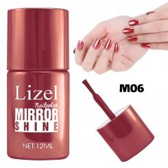 لاک ناخن آینه ای لیزل شماره 06 Lizel Nail Polish Mirror Shine 12 ml