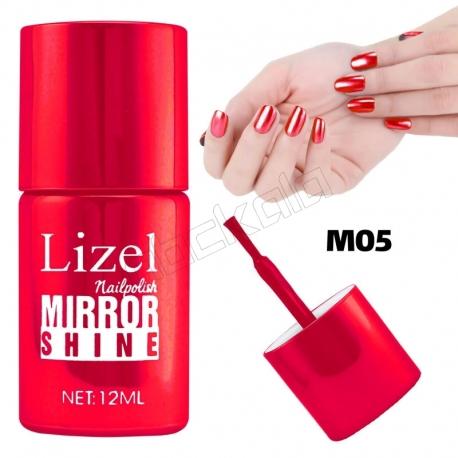 لاک ناخن آینه ای لیزل شماره 05 Lizel Nail Polish Mirror Shine 12 ml