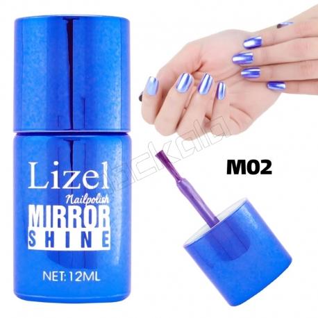 لاک ناخن آینه ای لیزل شماره 02 Lizel Nail Polish Mirror Shine 12 ml
