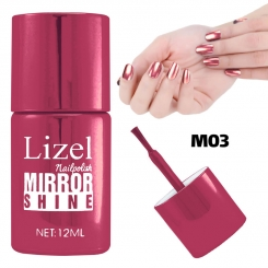 لاک ناخن آینه ای لیزل شماره 03 Lizel Nail Polish Mirror Shine 12 ml