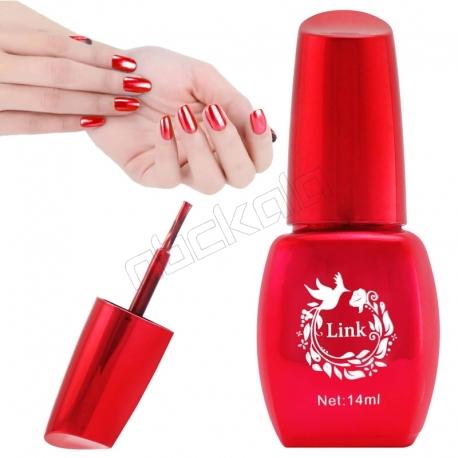 لاک ناخن آینه ای لینک رنگ قرمز Link Nail Polish Mirror Shine Red 14 ml