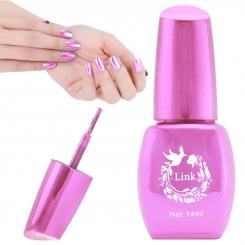 لاک ناخن آینه ای لینک رنگ صورتی Link Nail Polish Mirror Shine Pink 14 ml