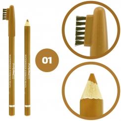 مداد ابرو مک ضدآب مدل فرچه دار شماره 01 Mac Waterproof Eyebrow Pencil