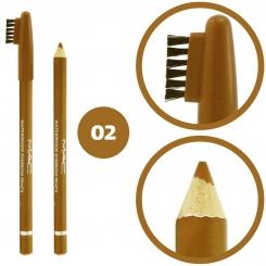 مداد ابرو مک ضدآب مدل فرچه دار شماره 02 Mac Waterproof Eyebrow Pencil