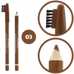 مداد ابرو مک ضدآب مدل فرچه دار شماره 03 Mac Waterproof Eyebrow Pencil