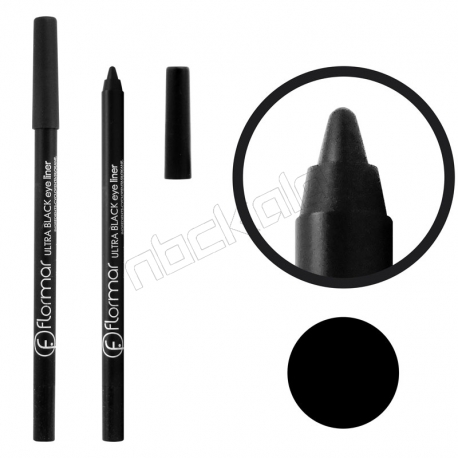 خط چشم فلورمار مدل مدادی مداد سرمه بسیار مشکی Flormar Ultra Black Eye Liner Pencil