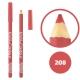 خط چشم خط لب خل اند کونتور بورژوآ ضدآب شماره 208 Bourjois Khol & Contour Waterproof Eyeliner Lipliner Pencil