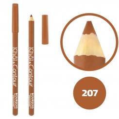 خط چشم خط لب خل اند کونتور بورژوآ ضدآب شماره 207 Bourjois Khol & Contour Waterproof Eyeliner Lipliner Pencil