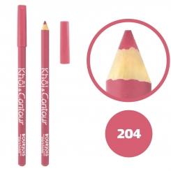 خط چشم خط لب خل اند کونتور بورژوآ ضدآب شماره 204 Bourjois Khol & Contour Waterproof Eyeliner Lipliner Pencil