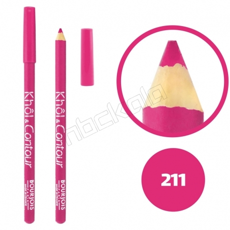 خط چشم خط لب خل اند کونتور بورژوآ ضدآب شماره 211 Bourjois Khol & Contour Waterproof Eyeliner Lipliner Pencil
