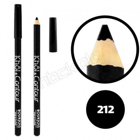 خط چشم خط لب خل اند کونتور بورژوآ ضدآب شماره 212 Bourjois Khol & Contour Waterproof Eyeliner Lipliner Pencil