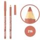 خط چشم خط لب خل اند کونتور بورژوآ ضدآب شماره 216 Bourjois Khol & Contour Waterproof Eyeliner Lipliner Pencil
