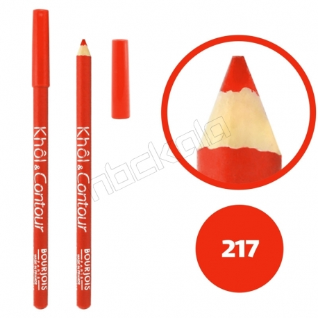 خط چشم خط لب خل اند کونتور بورژوآ ضدآب شماره 217 Bourjois Khol & Contour Waterproof Eyeliner Lipliner Pencil