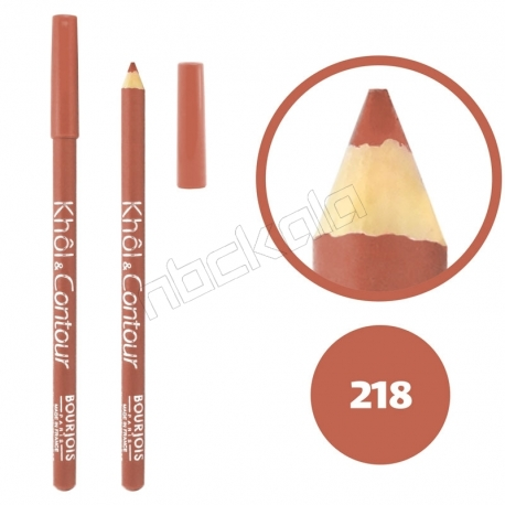 خط چشم خط لب خل اند کونتور بورژوآ ضدآب شماره 218 Bourjois Khol & Contour Waterproof Eyeliner Lipliner Pencil