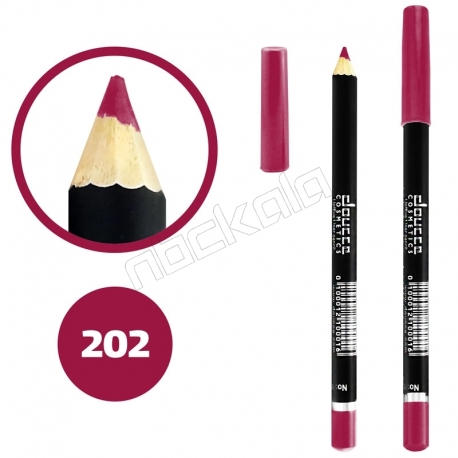 خط چشم خط لب دوسه ضدآب شماره 202 Doucce Waterproof Eyeliner Lipliner Pencil