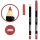 خط چشم خط لب دوسه ضدآب شماره 206 Doucce Waterproof Eyeliner Lipliner Pencil