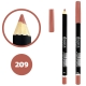 خط چشم خط لب دوسه ضدآب شماره 209 Doucce Waterproof Eyeliner Lipliner Pencil