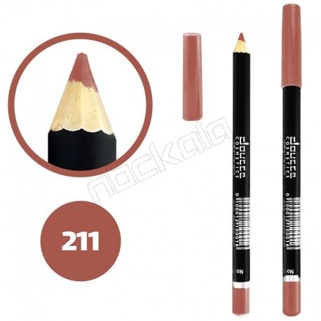 خط چشم خط لب دوسه ضدآب شماره 211 Doucce Waterproof Eyeliner Lipliner Pencil