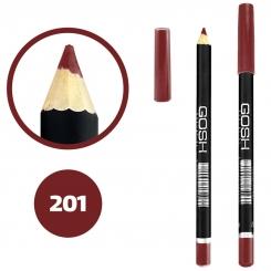 خط چشم خط لب گاش ضدآب شماره 201 Gosh Waterproof Eyeliner Lipliner Pencil