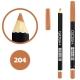 خط چشم خط لب گاش ضدآب شماره 204 Gosh Waterproof Eyeliner Lipliner Pencil