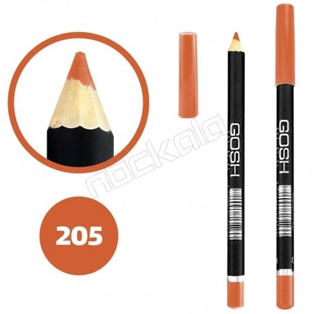خط چشم خط لب گاش ضدآب شماره 205 Gosh Waterproof Eyeliner Lipliner Pencil