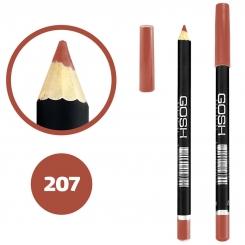 خط چشم خط لب گاش ضدآب شماره 207 Gosh Waterproof Eyeliner Lipliner Pencil