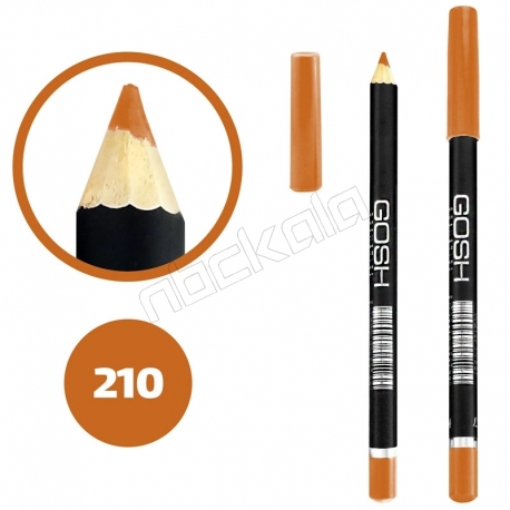 خط چشم خط لب گاش ضدآب شماره 210 Gosh Waterproof Eyeliner Lipliner Pencil