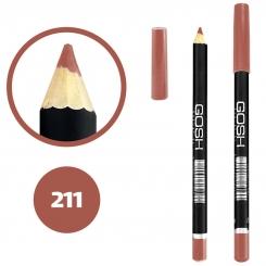 خط چشم خط لب گاش ضدآب شماره 211 Gosh Waterproof Eyeliner Lipliner Pencil