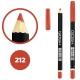 خط چشم خط لب گاش ضدآب شماره 212 Gosh Waterproof Eyeliner Lipliner Pencil