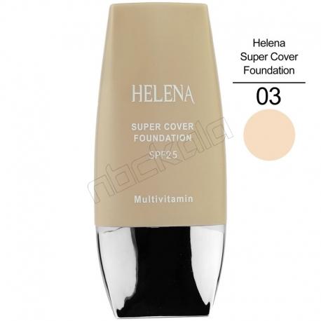 کرم پودر هلنا مدل تیوپی SPF25 حجم 30 میلی لیتری Helena Super Cover Foundation
