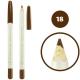 خط چشم خط لب فالورمور ضدآب شماره 18 Falormor Waterproof Eyeliner Lipliner Pencil