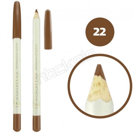 خط چشم خط لب فالورمور ضدآب شماره 22 Falormor Waterproof Eyeliner Lipliner Pencil