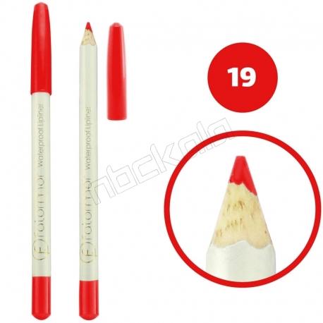 خط چشم خط لب فالورمور ضدآب شماره 19 Falormor Waterproof Eyeliner Lipliner Pencil