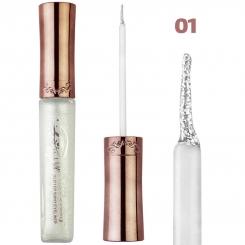 خط چشم کیس بیوتی مدل شاین اکلیلی ضدآب شماره 01 Kiss Beauty Glitter Shiny Waterproof Eyeliner