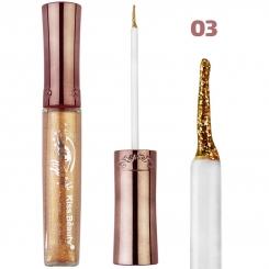 خط چشم کیس بیوتی مدل شاین اکلیلی ضدآب شماره 03 Kiss Beauty Glitter Shiny Waterproof Eyeliner