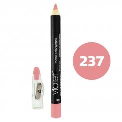 رژ لب مدادی ویولت مدل مداد خط چشم و خط لب ضدآب شماره 237 Violet Matte Lip Liner & Eye Liner Lipliner Waterproof Pencil
