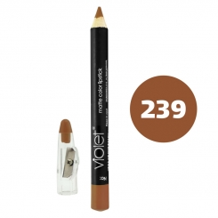 رژ لب مدادی ویولت مدل مداد خط چشم و خط لب ضدآب شماره 239 Violet Matte Lip Liner & Eye Liner Lipliner Waterproof Pencil