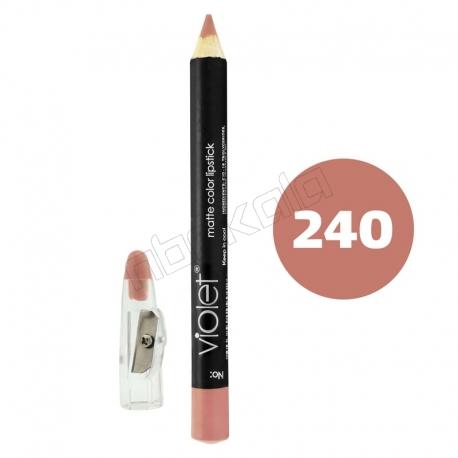 رژ لب مدادی ویولت مدل مداد خط چشم و خط لب ضدآب شماره 240 Violet Lip Liner & Eye Liner Waterproof Pencil