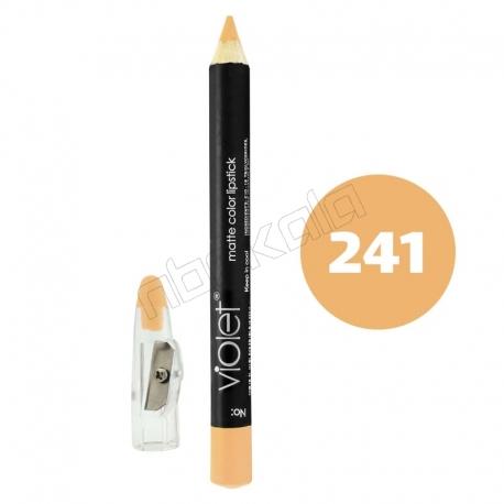 رژ لب مدادی ویولت مدل مداد خط چشم و خط لب ضدآب شماره 241 Violet Lip Liner & Eye Liner Waterproof Pencil