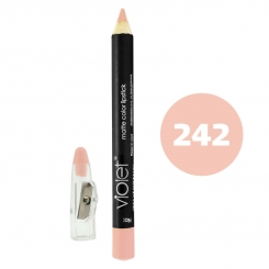 رژ لب مدادی ویولت مدل مداد خط چشم و خط لب ضدآب شماره 242 Violet Matte Lip Liner & Eye Liner Lipliner Waterproof Pencil