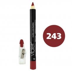 رژ لب مدادی ویولت مدل مداد خط چشم و خط لب ضدآب شماره 243 Violet Matte Lip Liner & Eye Liner Lipliner Waterproof Pencil