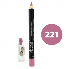 رژ لب مدادی ویولت مدل مداد خط چشم و خط لب ضدآب شماره 221 Violet Matte Lip Liner & Eye Liner Lipliner Waterproof Pencil