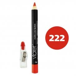 رژ لب مدادی ویولت مدل مداد خط چشم و خط لب ضدآب شماره 222 Violet Matte Lip Liner & Eye Liner Waterproof Pencil
