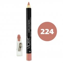 رژ لب مدادی ویولت مدل مداد خط چشم و خط لب ضدآب شماره 224 Violet Matte Lip Liner & Eye Liner Waterproof Pencil