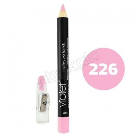 رژ لب مدادی ویولت مدل مداد خط چشم و خط لب ضدآب شماره 226 Violet Matte Lip Liner & Eye Liner Waterproof Pencil