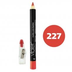 رژ لب مدادی ویولت مدل مداد خط چشم و خط لب ضدآب شماره 227 Violet Matte Lip Liner & Eye Liner Waterproof Pencil